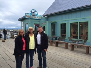 The Little Mermaid Restaurant on the Homer Spit with Sharron and Lennard.