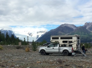 Our campsite with the Root Glacier in the background.